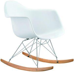 Eames rocking chair RAR Replica White By Decomica - DECOMICA