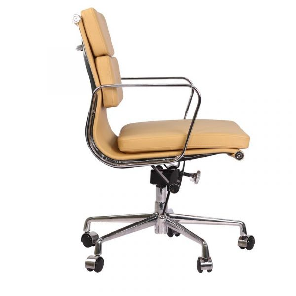 Eames  Softpad Office Chair Camel Leather - Replica - Low back - DECOMICA