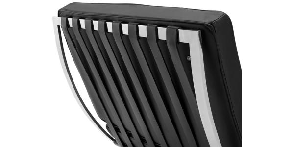 Premium Barcelona Chair and Ottoman Black - Mies Van Der Rohe Replica - DECOMICA