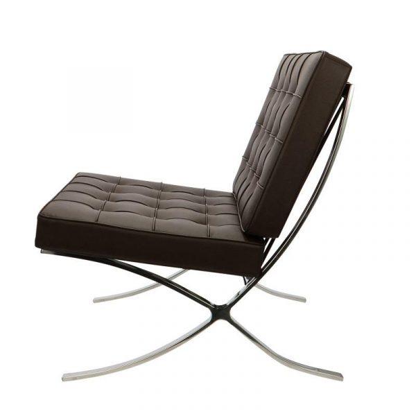 Premium Barcelona Chair Chocolate Brown - Mies Van Der Rohe Replica - DECOMICA