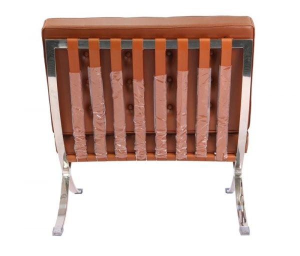 Premium Barcelona Chair Tan Brown - Mies Van Der Rohe Replica - DECOMICA