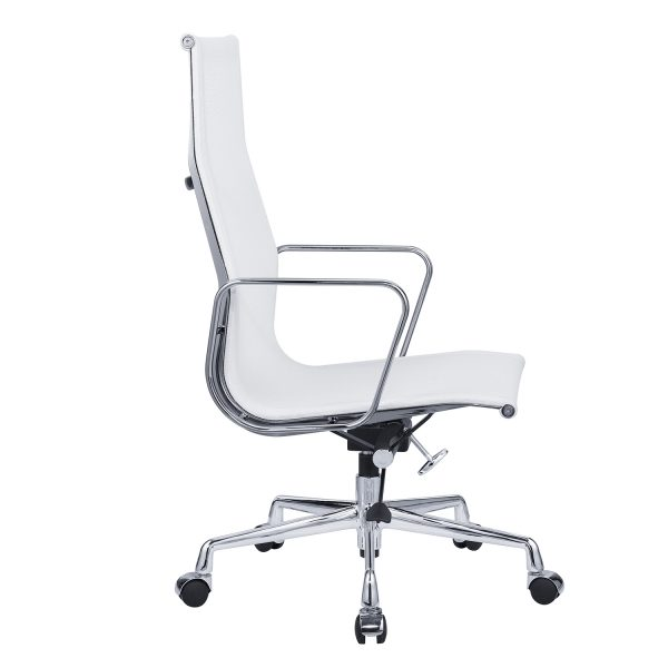 Eames Management EA119 Mesh Office Chair Replica High Back- White